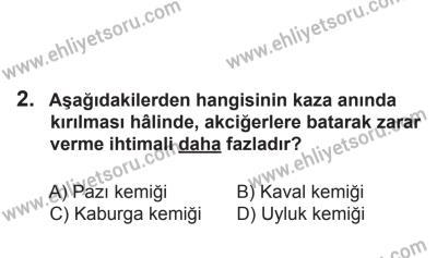 2 Kasım 2013 Tarihli Sürücü Adayları Sınavı L Kitapçığı 2. Soru