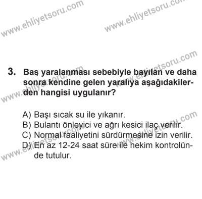 2 Kasım 2013 Tarihli Sürücü Adayları Sınavı M Kitapçığı 3. Soru